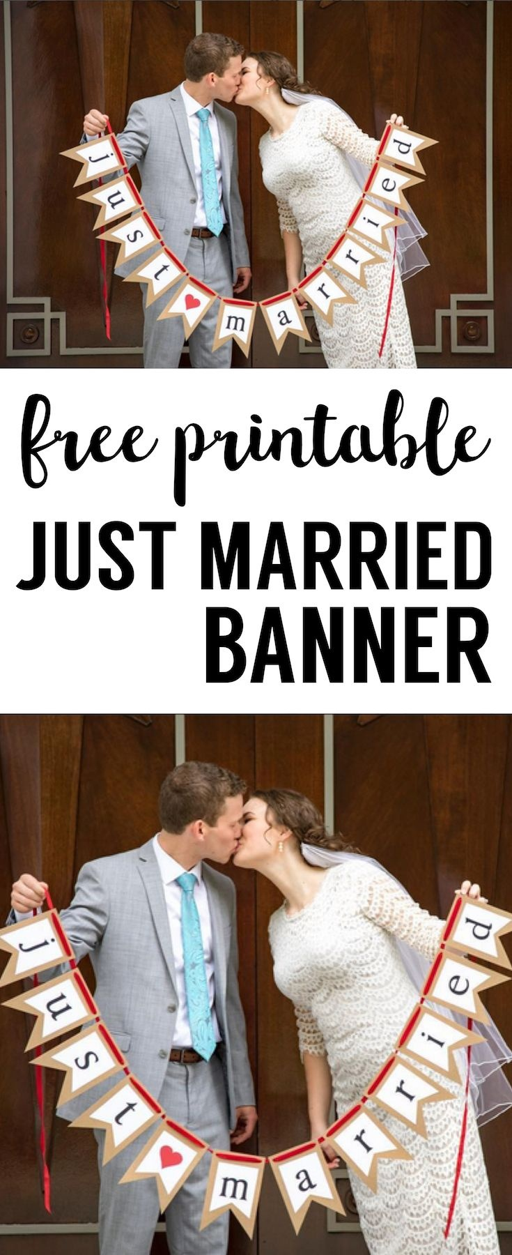 Free Printable Just Married Banner | Grad Party | Just Married - Just Married Free Printable