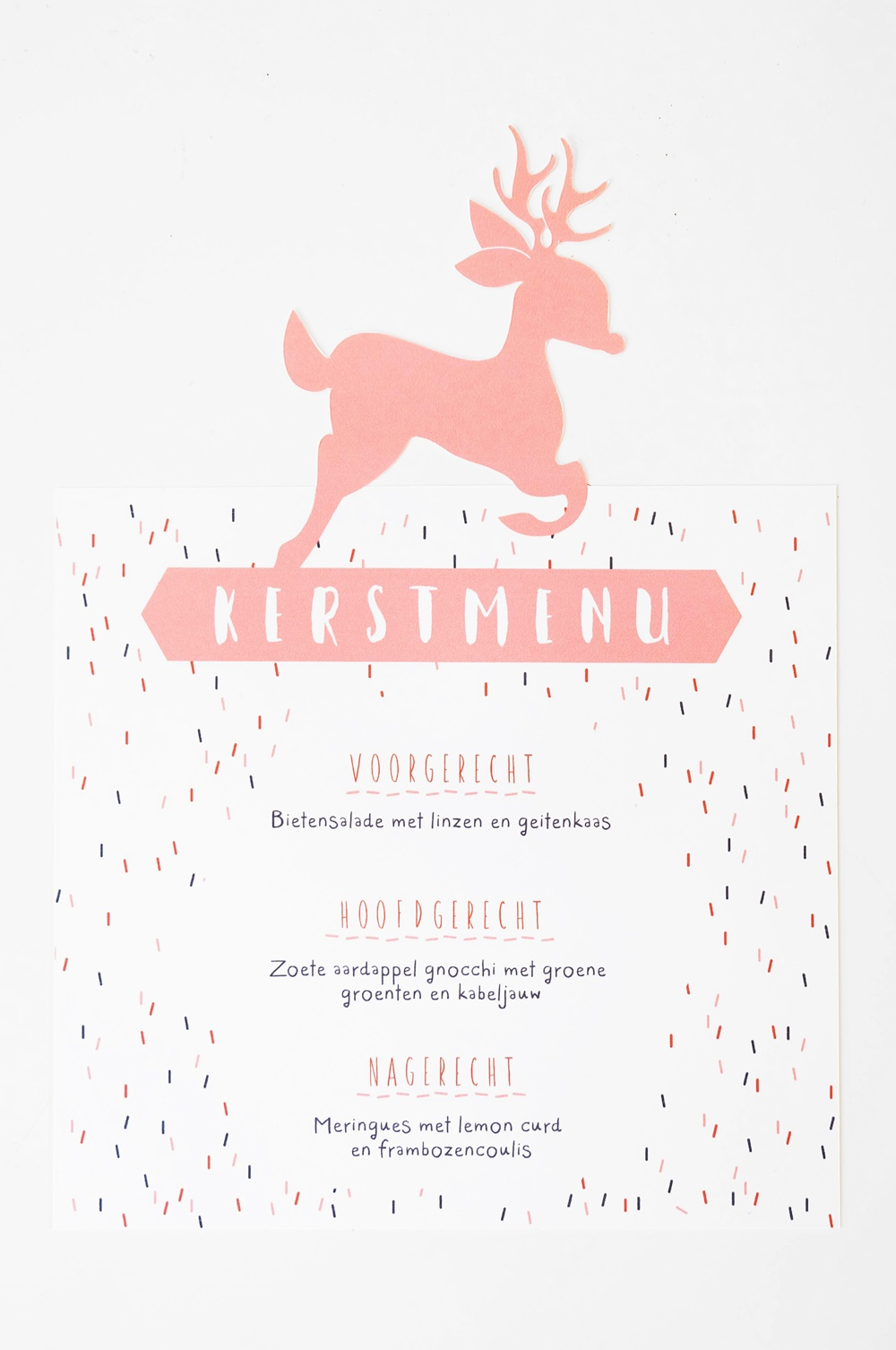 Free Printable: Kerstmenu — No Ordinary Tales - Free Printable Menu