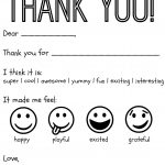 Free Printable Kids Thank You Cards To Color | Thank You Card   Free Printable Teacher Appreciation Cards To Color