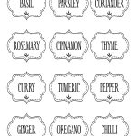 Free Printable Kitchen Spice Labels … | Labels | Spice…   Free Printable Spice Labels