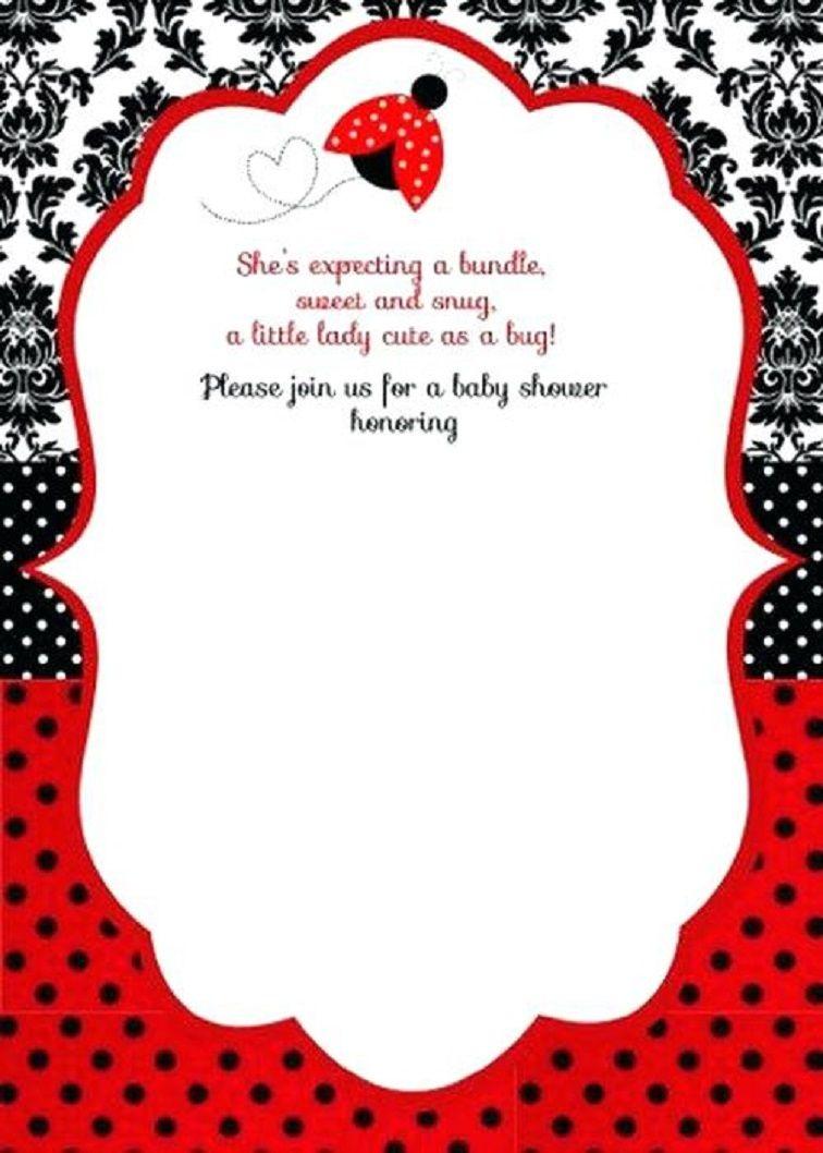 Free Printable Ladybug Baby Shower Invitations Templates | Pegs In - Free Printable Ladybug Baby Shower Invitations Templates