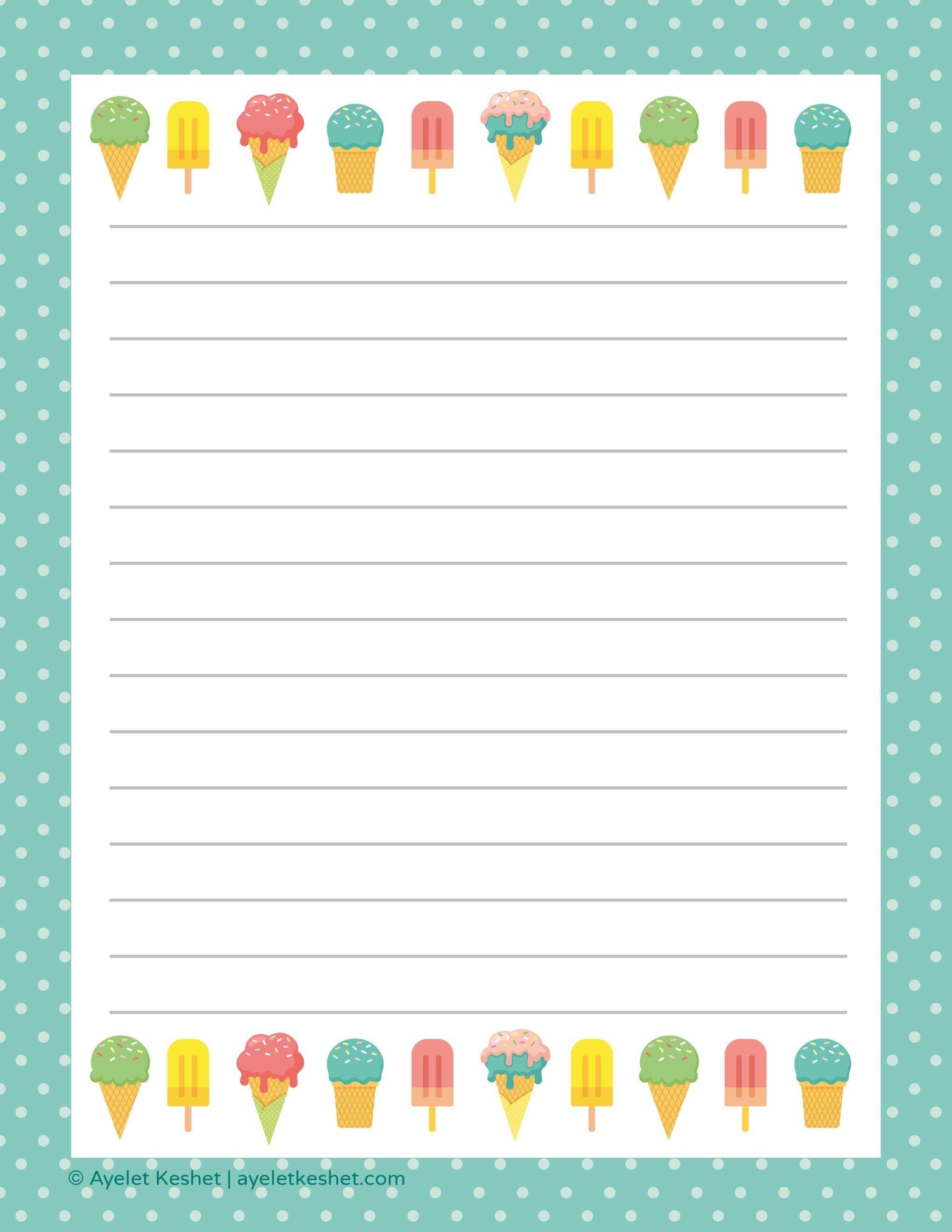 Free Printable Letter Paper | Printables To Go | Free Printable - Free Printable Writing Paper