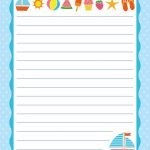 Free Printable Letter Paper | Printables To Go | Printable Letters   Free Printable Writing Paper