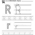 Free Printable Letter R Alphabet Learning Worksheet For Preschool   Free Printable Preschool Worksheets For The Letter R