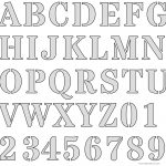 Free Printable Letter Stencils   Free Printable Alphabet Stencils