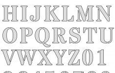 Free Printable Letter Stencils – Free Printable Alphabet Stencils