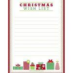 "Free Printable ""letter To Santa"", ""christmas Wish List"" And Tag   Free Printable Christmas List"