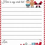 Free Printable Letter To Santa Template ~ Cute Christmas Wish List   Free Printable Christmas List