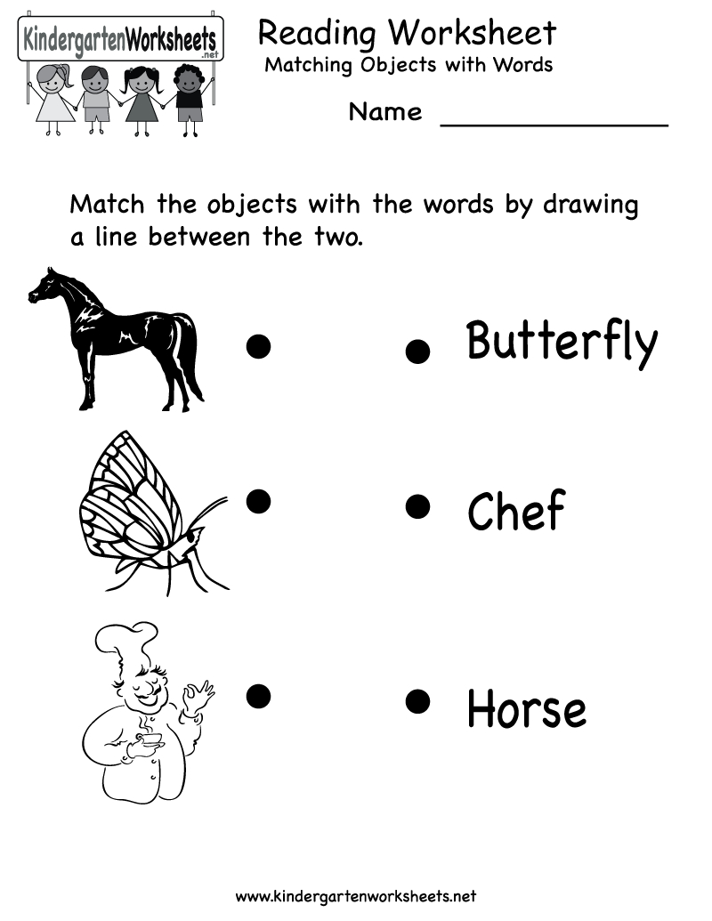 Free Printable Letter Worksheets Kindergarteners | Reading Worksheet - Free Printable Reading Activities For Kindergarten