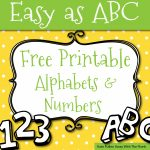 Free Printable Letters And Numbers For Crafts   Free Printable Alphabet Letters