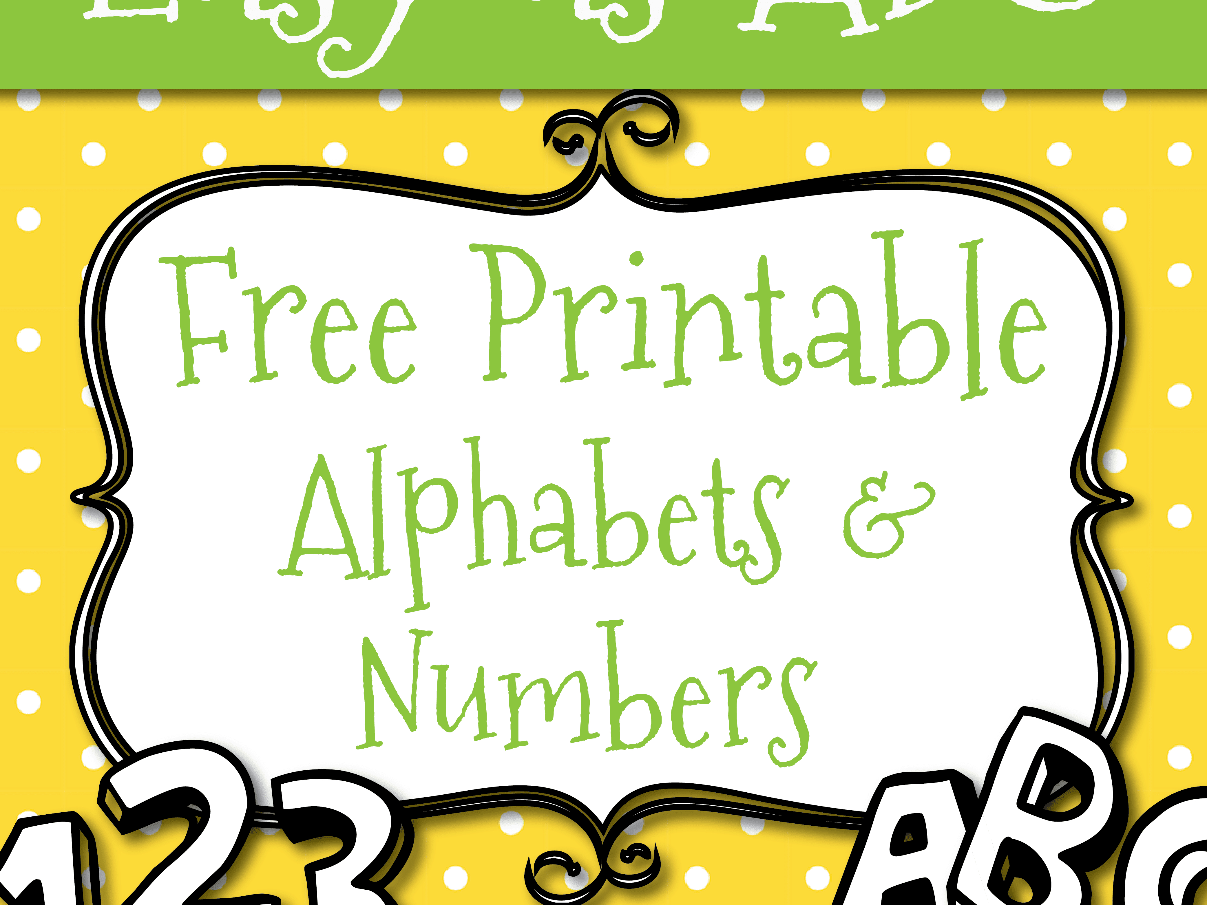 Free Printable Letters And Numbers For Crafts - Free Printable Letters