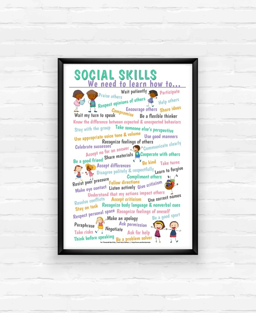 Free Printable List Of 50 Social Skills For Kids | And Next Comes L - Free Printable Social Skills Stories For Children