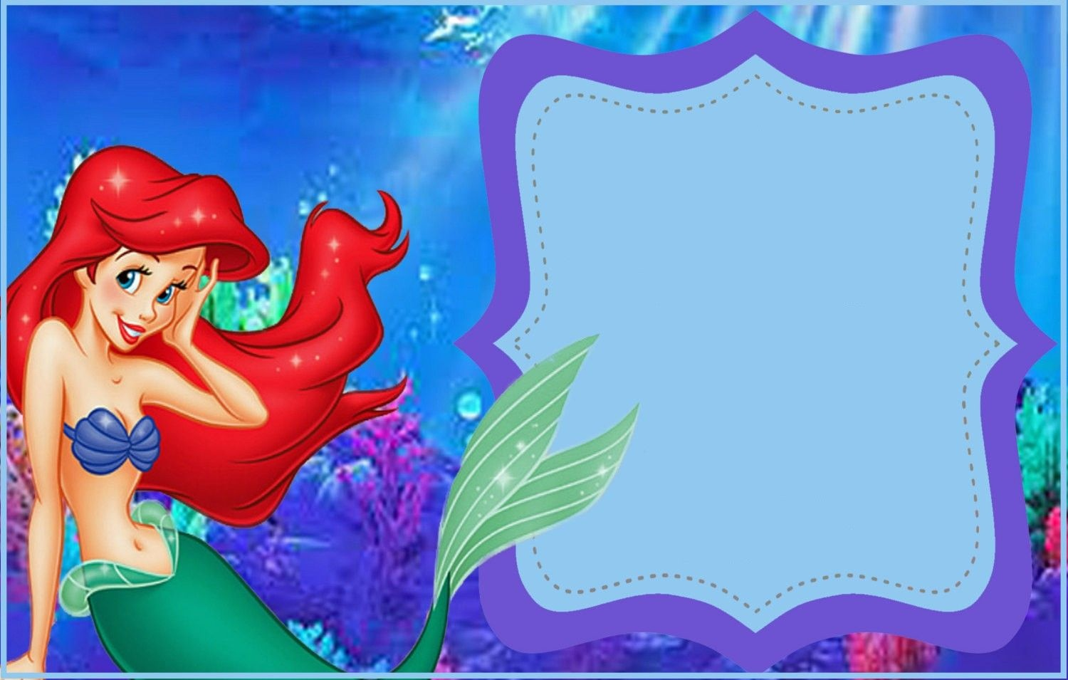 Free Printable Little Mermaid Invitation Template | Mermaid Party In - Free Little Mermaid Printable Invitations