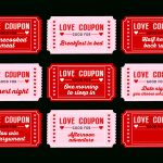 Free Printable Love Coupons For Couples On Valentine's Day! | Catch   Free Printable Love Coupons