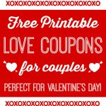 Free Printable Love Coupons For Couples On Valentine's Day   Free Printable Love Coupons