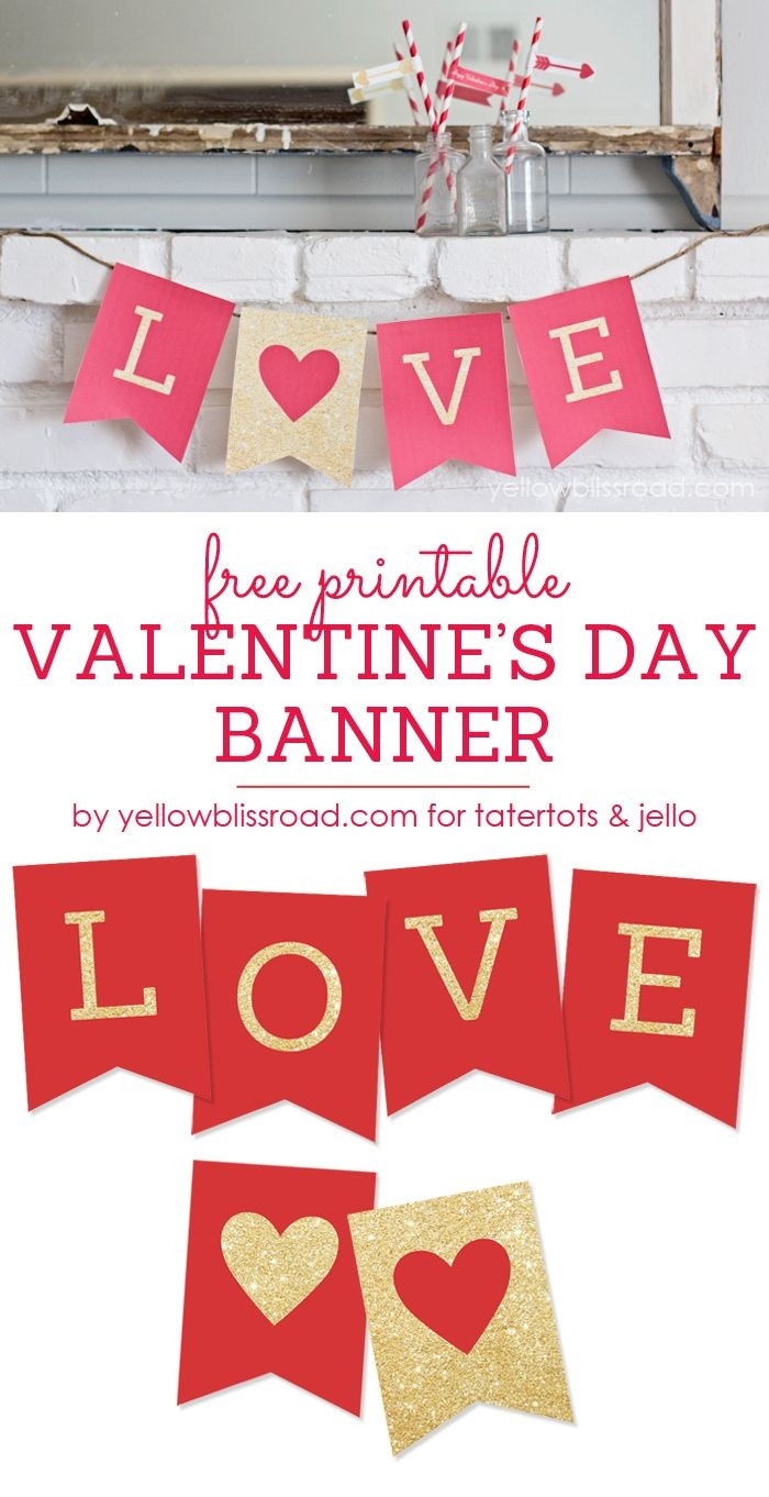 Free Printable Valentine's Day Decorations