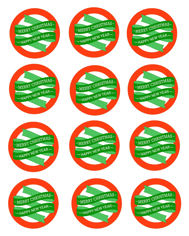 Free Printable Mason Jar Gift Labels - Merry Christmas & Happy New - Free Printable Mason Jar Labels