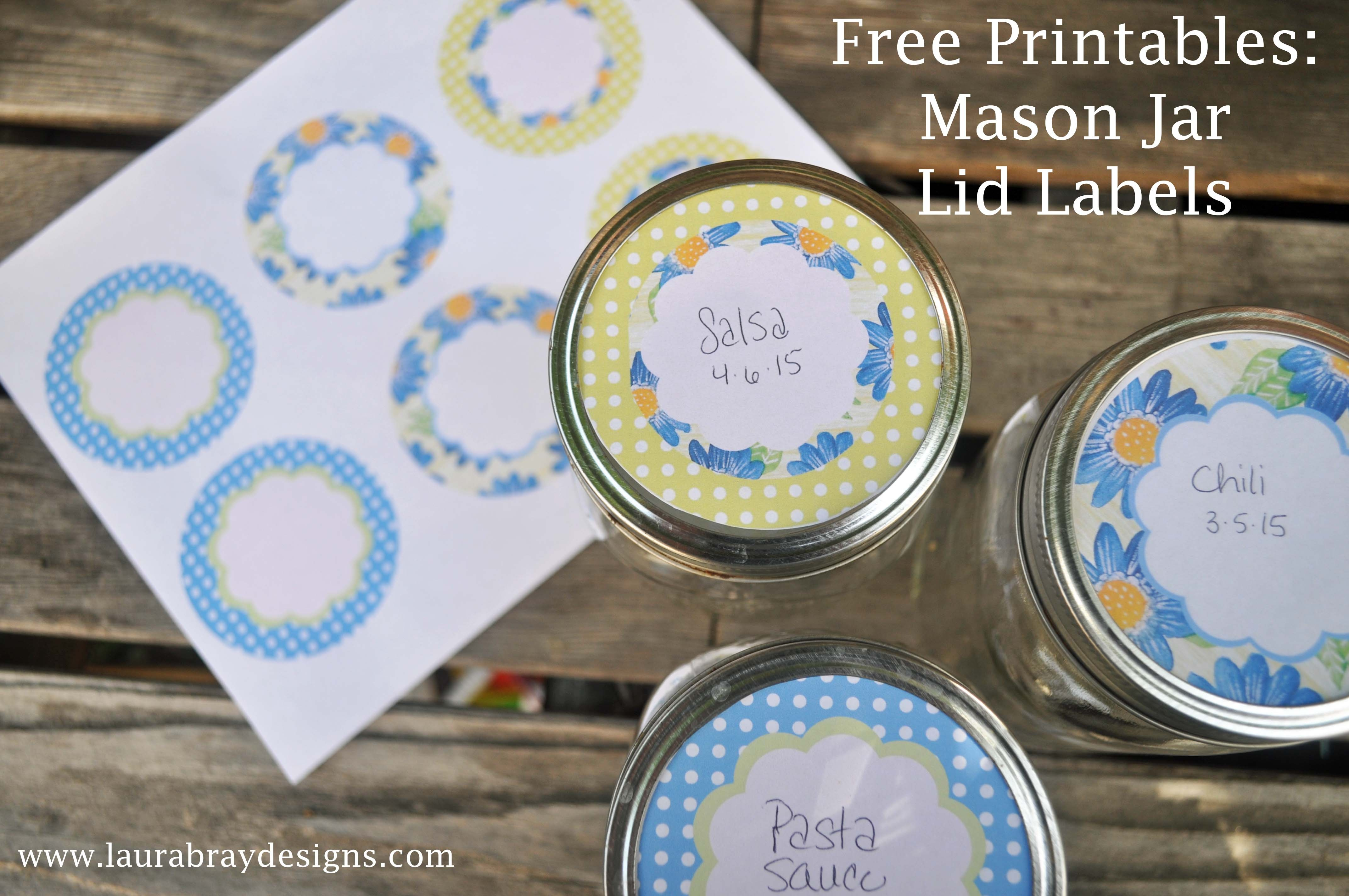 Free Printable: Mason Jar Labels - Laura K. Bray Designs - Free Printable Mason Jar Labels