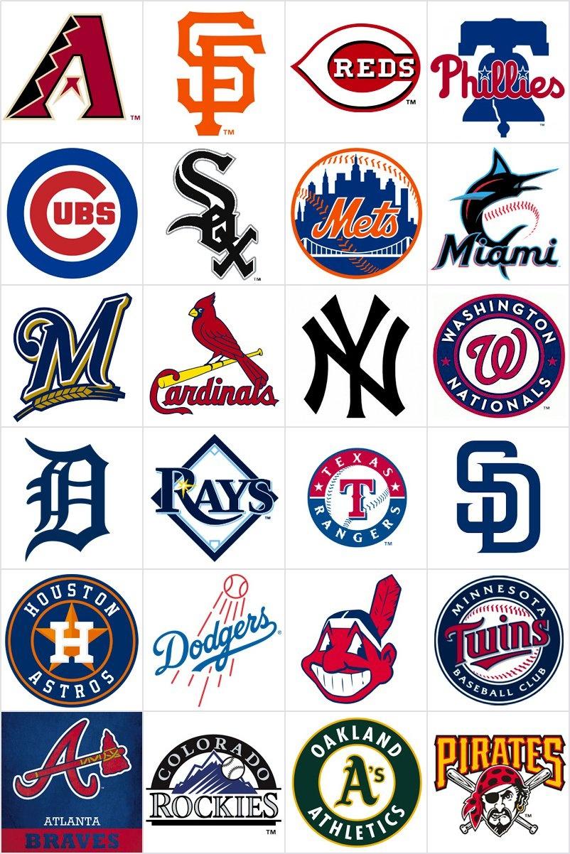 Free Printable Memory Game For Kids - Baseball Teams Logos - Print - Free Printable Baseball Logos