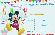 Free Printable Mickey Mouse Party Invitation Template | Free – Free Printable Mickey Mouse Invitations