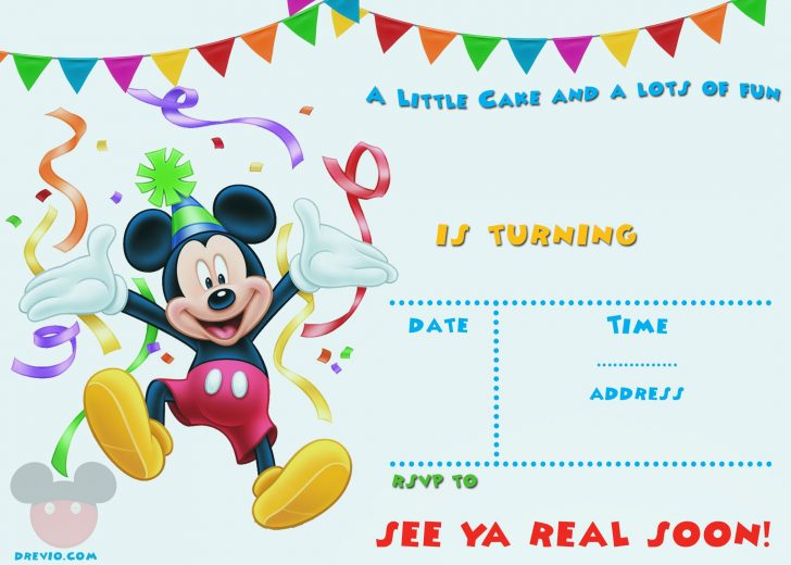 Free Printable Mickey Mouse Invitations