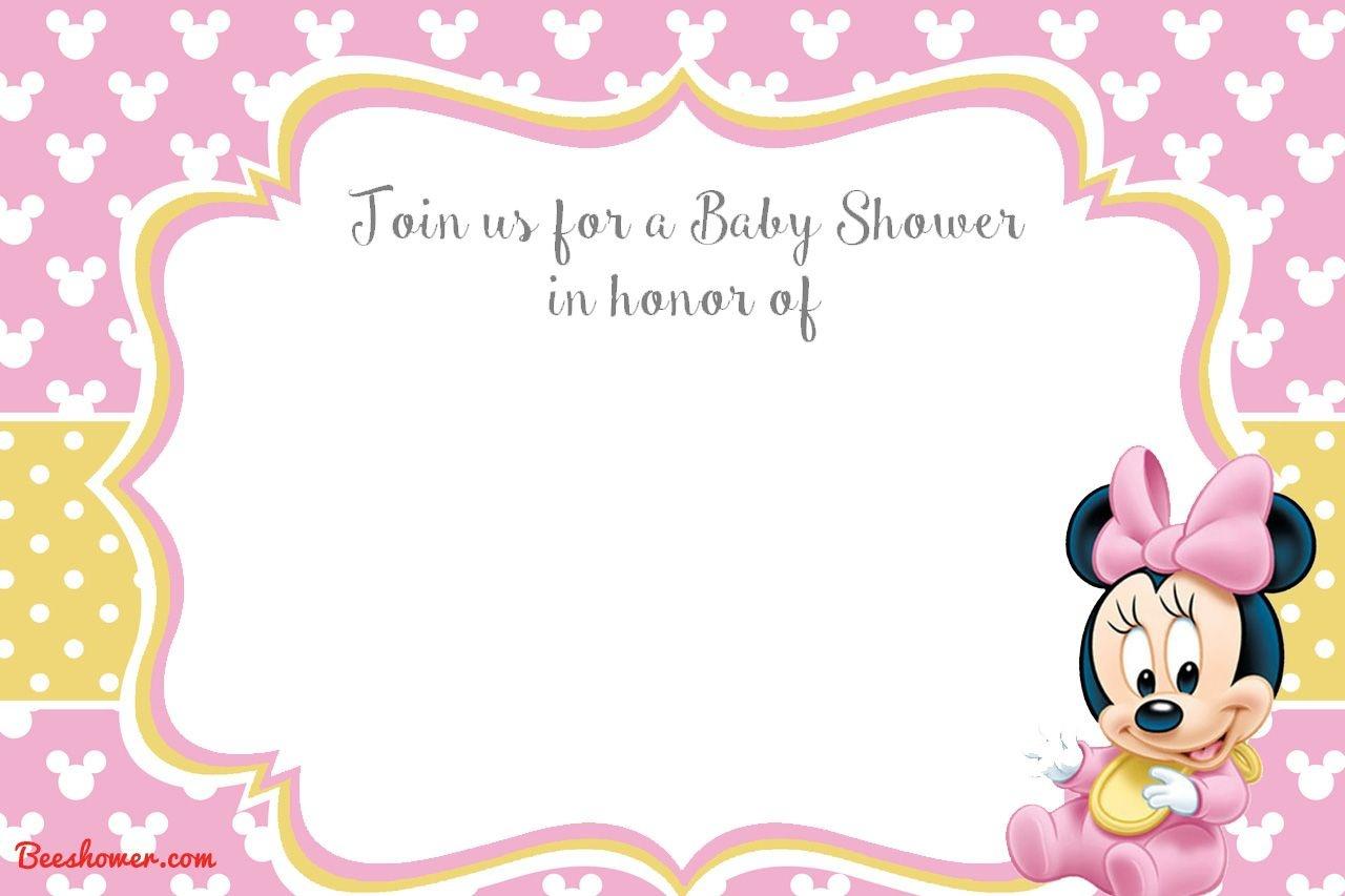 Free Printable Minnie Mouse 1St Invitation | Talli | Baby Shower - Free Printable Minnie Mouse Baby Shower Invitations