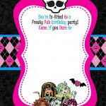 Free Printable Monster High Birthday | Free Printable Birthday   Free Printable Monster High Stickers