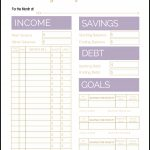 Free Printable Monthly Budget Template   Free Budget Printable Template