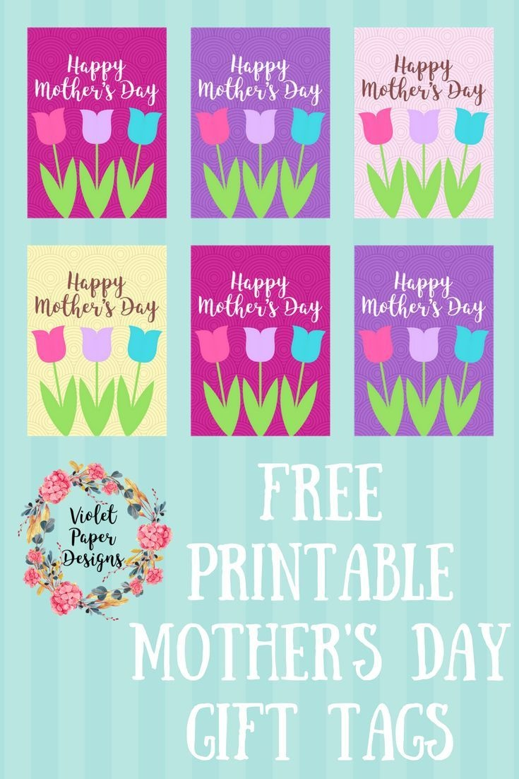 Free Printable Mother's Day Gift Tags | Kids Crafts Activities - Free Printable Mothers Day Gifts