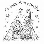 Free Printable Nativity Coloring Pages For Kids | Projects To Try   Free Printable Christmas Baby Jesus Coloring Pages