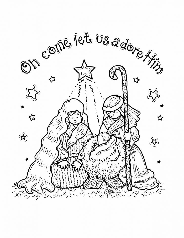 Free Printable Christmas Baby Jesus Coloring Pages