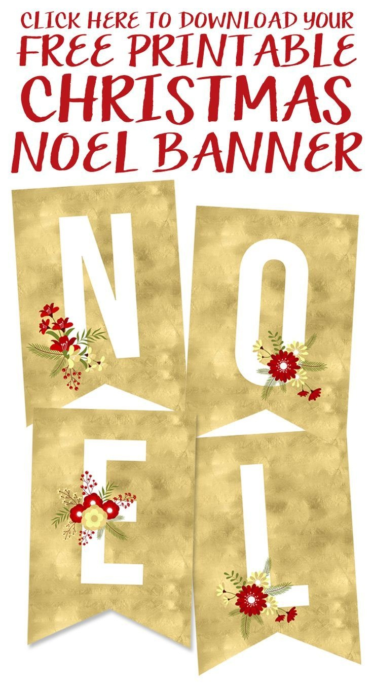 Free Printable Noel Banner | Best Of Pinterest | Christmas, Free - Free Printable Christmas Banner