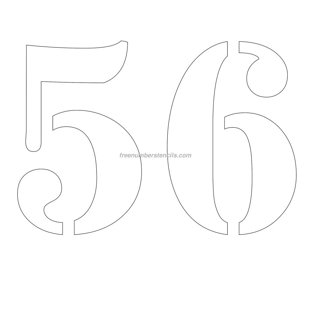 Free Printable Number Stencils For Painting : Freenumberstencils - Free Printable Number Stencils
