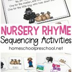 Free Printable Nursery Rhyme Sequencing Cards And Posters   Free Printable Preschool Posters