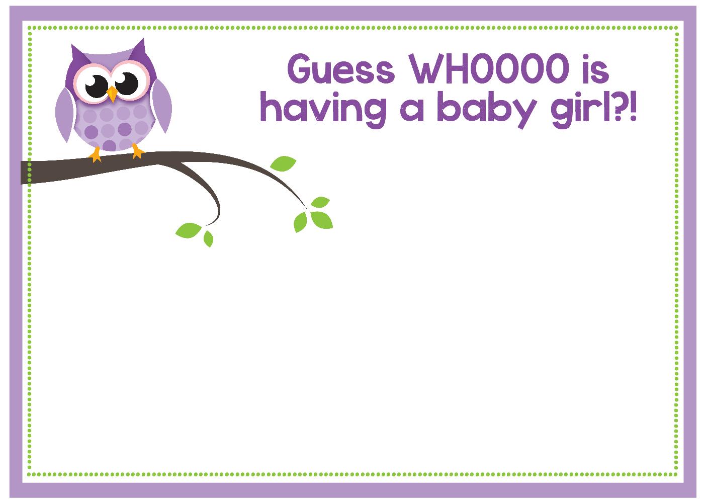 Free Printable Owl Baby Shower Invitations {& Other Printables} - Create Your Own Baby Shower Invitations Free Printable