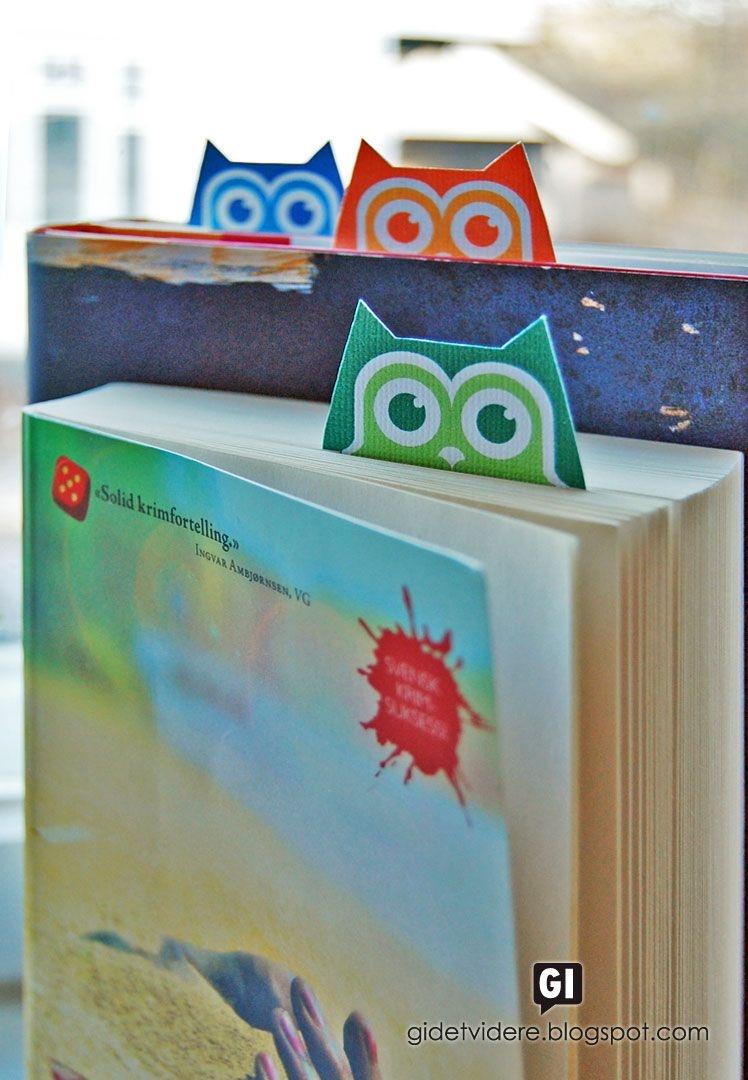 Free Printable Owl Bookmarks | Etiketten/ Free Printables | Uil - Free Printable Owl Bookmarks