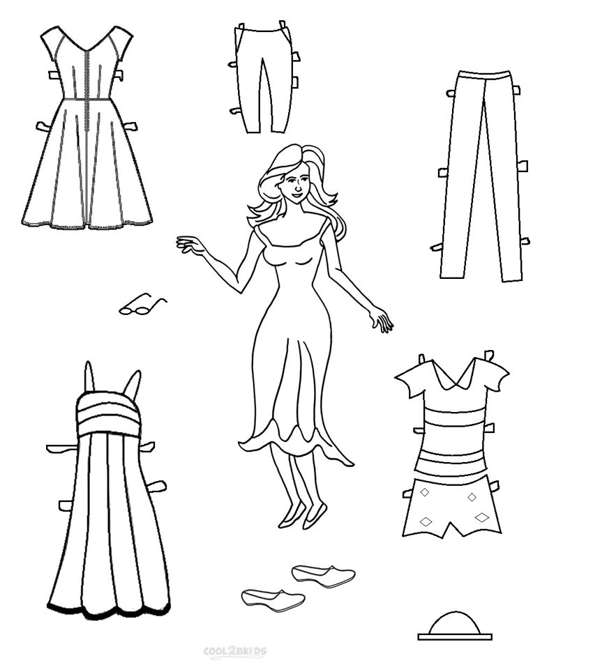 Free Printable Paper Doll Templates | Cool2Bkids - Free Printable Paper Doll Coloring Pages