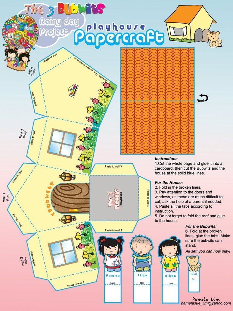 Free Printable Papercraft House~Pammylim On Deviantart | 1:6 Toy - Printable Paper Crafts Free