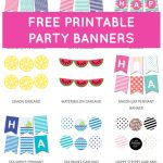 Free Printable Party Banners From @chicfetti | Free Printables   Free Printable Birthday Banner
