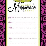 Free Printable Party Invitations: Masquerade Or Mardi Gras Party   Free Printable Mardi Gras Invitations