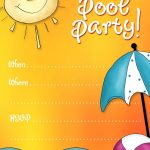 Free Printable Party Invitations: Summer Pool Party Invites | Adhd   Free Printable Pool Party Birthday Invitations