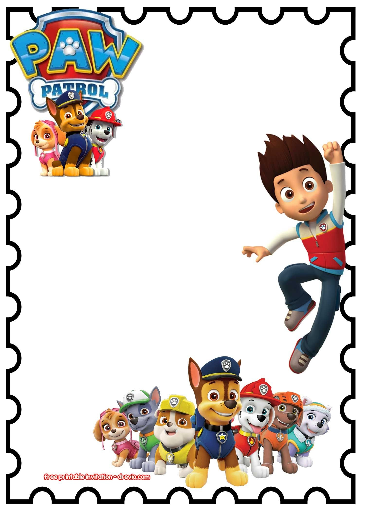 Free Printable Paw Patrol Birthday Invitation Chalkboard Psd - Free Printable Paw Patrol Invitations