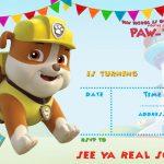 Free Printable Paw Patrol Invitation Template   All Characters   Free Printable Paw Patrol Invitations