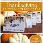 Free Printable Place Card Template, Perfect For Your Thanksgiving   Free Printable Thanksgiving Place Cards
