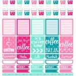 Free Printable Planner Stickers   Coffee. Print These Planner   Free Printable Card Stock Paper