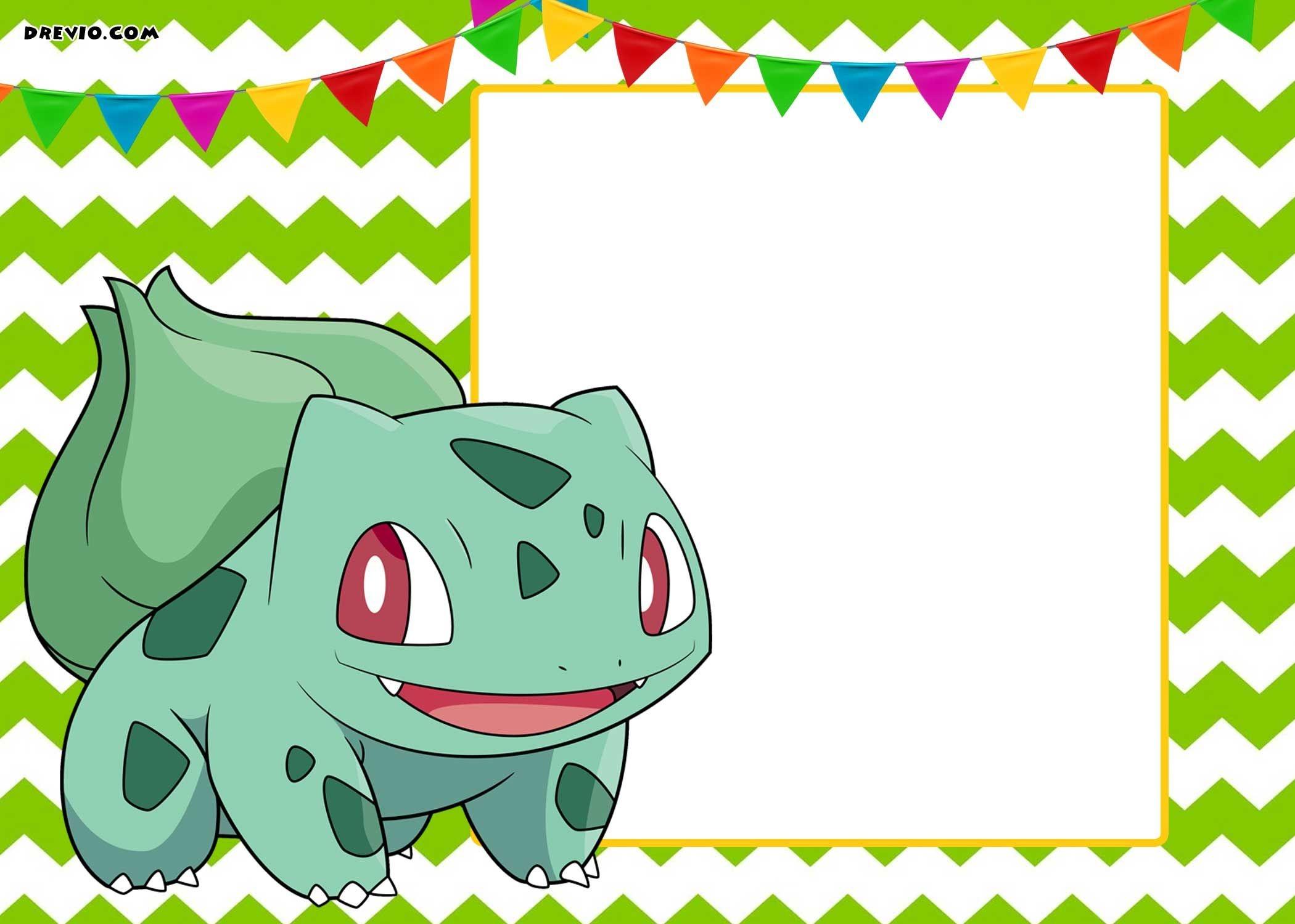 Free Printable Pokemon Invitation Templates | Free Printable - Pokemon Invitations Printable Free