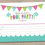 Free Printable Pool Party Birthday Invitations | Party Invitations   Free Printable Pool Party Birthday Invitations