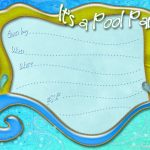 Free Printable Pool Party Invitation Template From   Free Printable Pool Party Birthday Invitations