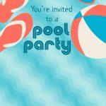 Free Printable Pool Party Stuff Invitation | Projects To Try In 2019   Free Printable Pool Party Birthday Invitations