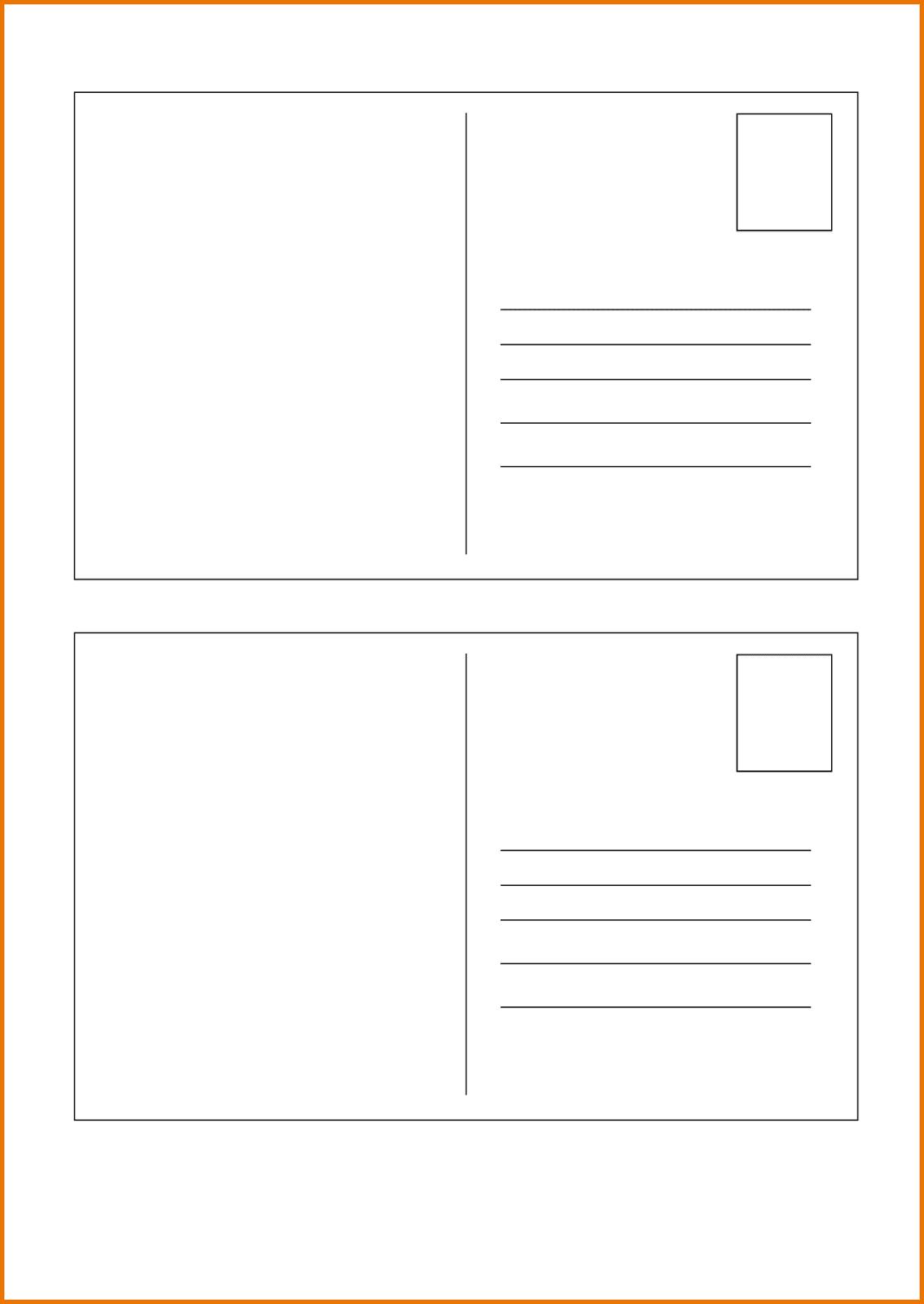 Free Printable Postcard Templates - Free Printable Postcard Template
